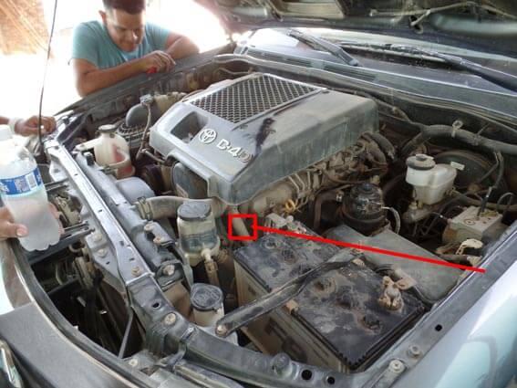 ubicacion numero de motor hilux 2014